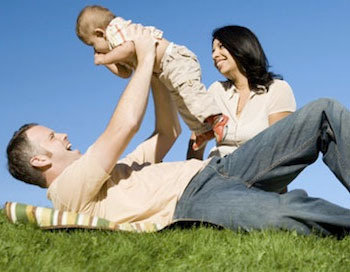 family-on-grass